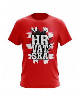 "Fan T-shirts ""Croatia"" - Red"