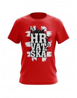 """Navijačka majica s natpisom """"HRVATSKA"""" - crvena"""