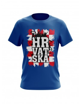 "Fan T-shirts ""Croatia"" - Blue"