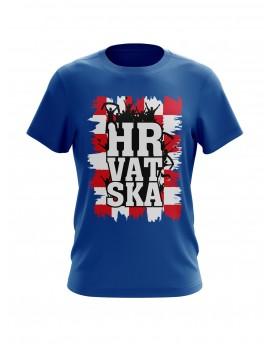 "Navijačka majica s natpisom ""HRVATSKA"" - plava"