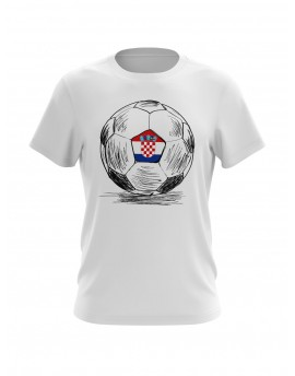 Fan T-shirts with Ball sketch - white