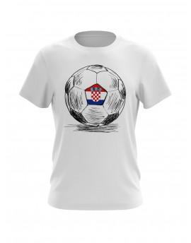 Navijačka majica s loptom - bijela