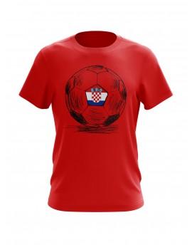 Navijačka majica s loptom - crvena