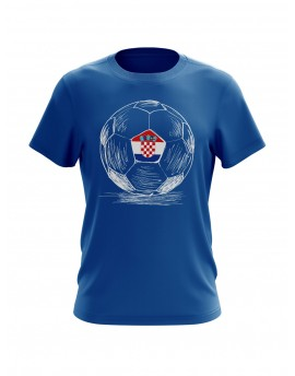 Fan T-shirts with Ball sketch - blue