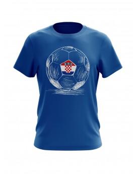 Navijačka majica s loptom - plava