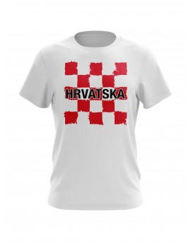"Fan T-shirts ""Croatia"" - white"