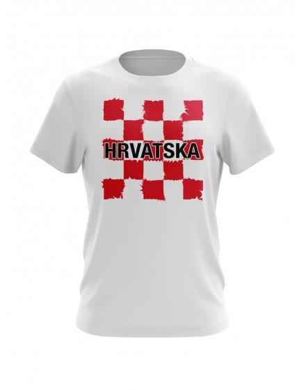 Navijačka majica s šahovnicom i natpisom Hrvatska