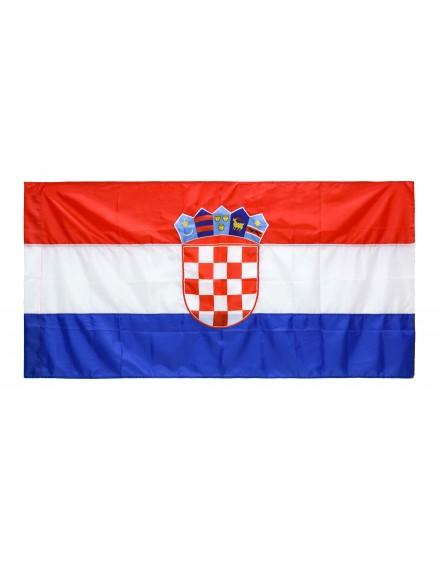 Croatia national flag - 500x150cm - silk
