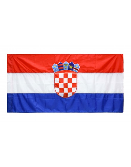 Croatia national flag - 600x150cm - silk