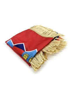 Flag of Croatia - 300x150cm - silk- with Gold Fringe