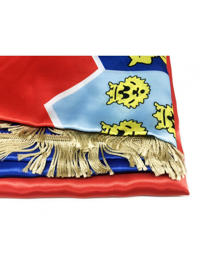 Flag Of Croatia 300x150cm Silk With Gold Fringe