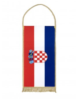 Table flag of Croatia - 24x12cm - with Gold Fringe