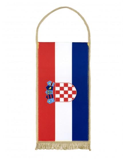 Table flag of Croatia - 24x12cm - with Gold Fringe
