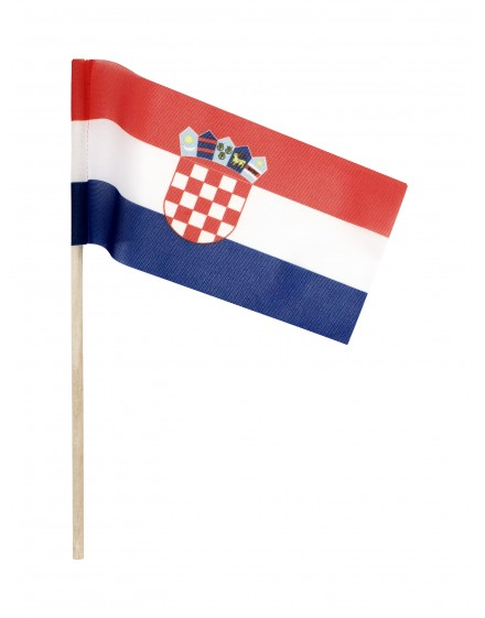 Zastava Republike Hrvatske na štapiću - 40x20cm