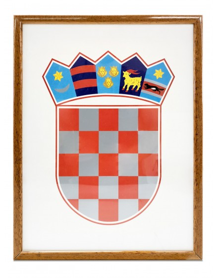 Coat of arms of Croatia - 21x30cm - with wooden frame