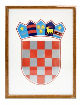 Coat of arms of Croatia - 30x40cm - with wooden frame