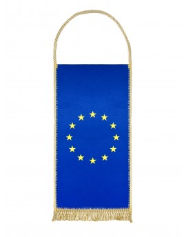 Table flag of European Union - 24x12cm - with Gold Fringe