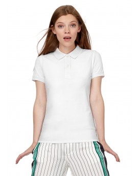 Polo shirt B&C Woman White