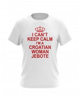 """Navijačka majica s natpisom """"I can't keep calm"""""""