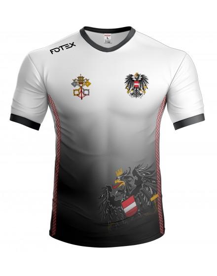 Svećenička ekipa - Austria - majica - bijelo-crna