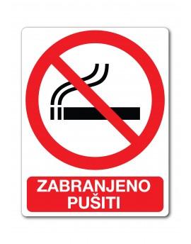 Naljepnica - zabranjeno pušiti