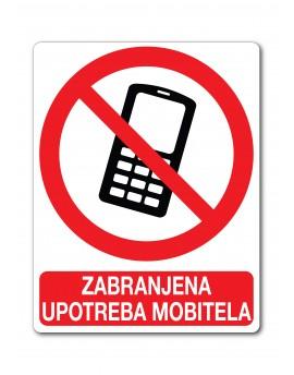 Naljepnica - zabranjena upotreba mobitela