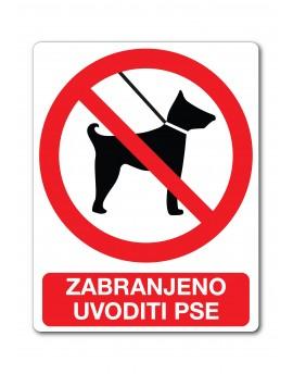 Naljepnica - zabranjeno uvoditi pse