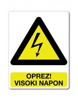 Naljepnica - Oprez! visoki napon