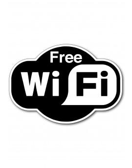 Naljepnica - free wifi