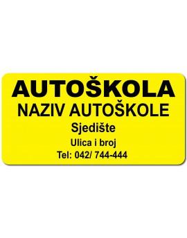 Magnet Sign - autoškola