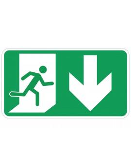 Naljepnica - evakuacijski put RAVNO (vrata lijevo)