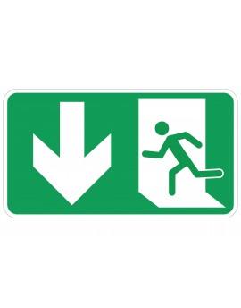 Naljepnica - evakuacijski put RAVNO (vrata desno)