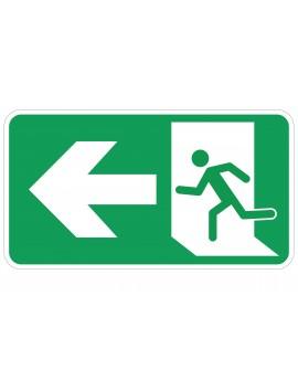 Naljepnica - evakuacijski put - lijevo