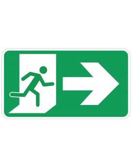 Naljepnica - evakuacijski put - desno