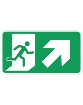 Naljepnica - evakuacijski put - desno gore