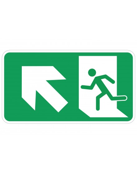 Naljepnica - evakuacijski put - lijevo gore