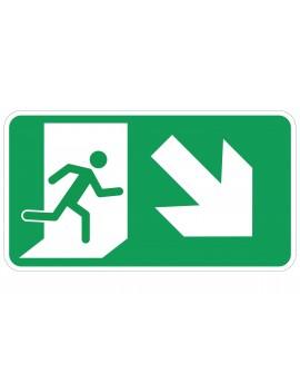 Naljepnica - evakuacijski put - desno dolje