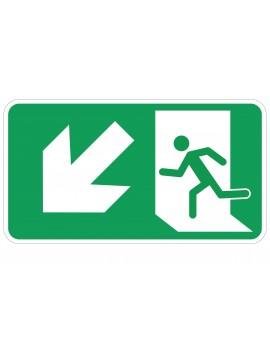 Naljepnica - evakuacijski put - lijevo dolje